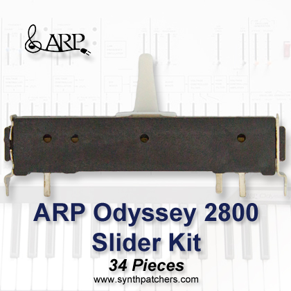ARP Odyssey 2800 Slider Kit from Synth Patchers.