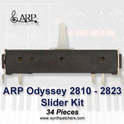 ARP Odyssey 2810 - 2823 Slider Kit from Synth Patchers.